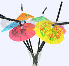 20pcs Fashional Parasol Umbrella Cocktail Drinking Straws Party Cocktail Party Decorations Ebay