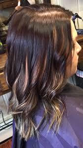 Dark Brown Hair Color With Peekaboo