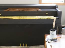 apply two coats of chalk paint and furniture wax to the piano for a brand new