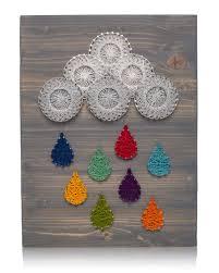 Nail String Art Designs Amazon Com Diy String Art Kit Raindrops String Art Kit