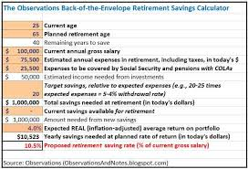 Observations My Simple Retirement Saving Calculator