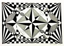 Small Picture Op Art Coloring pages for adults JustColor