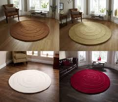 spiral hand tufted 100 wool circular rug modern textured round large floor mat