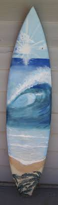 hand painted wave curl surfboard mural by b griffin  on hand painted surfboard wall art with hand painted wave curl surfboard mural by b griffin surfboard