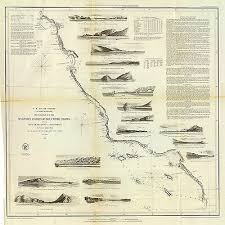 1853 San Francisco San Diego U S Nautical Chart Survey Coastal Map Wall Poster Ebay