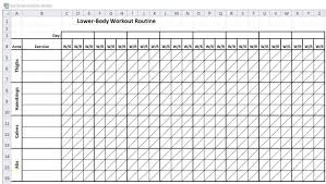 Workout Template Spreadsheet Inspirational Delivery Schedule Excel