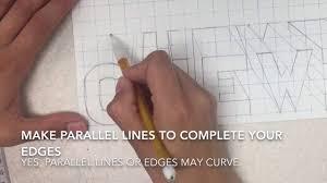 Block Letters On Graph Paper Part 3