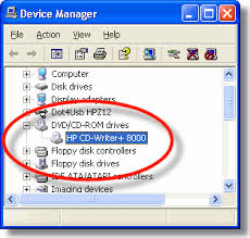 hp and compaq desktop pcs adding or replacing a cd or dvd drive finding the drive in device manager
