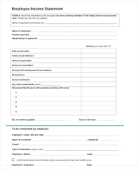 Income Statement Template Word Amazing Employee Income Statement Form Commision Template Commission Word