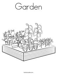 Small Picture Garden Coloring Page Twisty Noodle