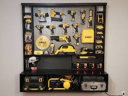 picture of diy power tool storage w charging station