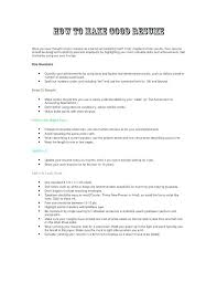 how to build a great resume. How To Construct A Good Resume How To Make A Great Resume Building A