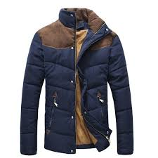 mens winter coat fashion wadded outdoor thick warm cotton padded jacket