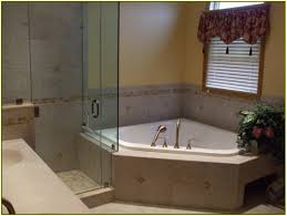 bathtub shower combo corner home design ideas