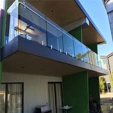 stainless steel spigot glass railing frameless glass balcony railing design
