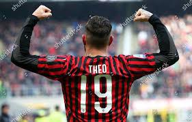 Milans Theo Hernandez celebrates after scoring 21 Editorial ...