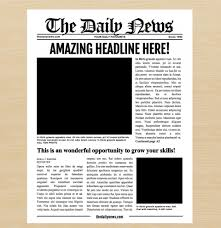 The Times Newspaper Template 040 Template Ideas New York Times Blank Newspaper 72382 Free