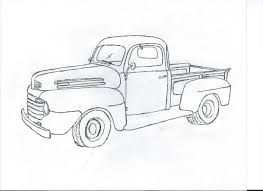 A drawing of a 49 F1 - Ford Truck Enthusiasts Forums | art | Ford ...