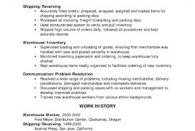 Examples Of Resumes : Sample Resume Warehouse Job Description ...