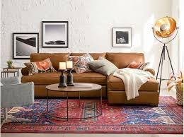 best leather townsend roll arm leather chaise sofa sectional