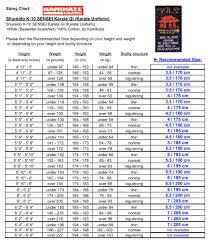 Karate Uniform Size Chart Shureido K 10 Sensei Karate Gi Uniform White 100 Cotton