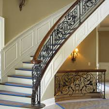 Wrought iron stair railing Wood View Projects Mather Sullivan Architectural Products Wrought Ironstair Railings Mather Sullivan Architectural Products