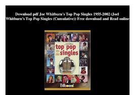Download Pdf Joe Whitburns Top Pop Singles 1955 2002 Joel