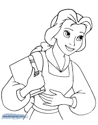 belle holding a book