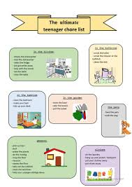 Chore Lists For Teens Chore List For Teenager Magdalene Project Org