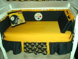 steelers crib bedding set custom baby nursery crib bedding set made w fabric also pink pittsburgh steelers crib bedding sets