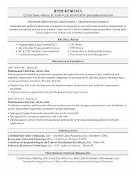 Building Maintenance Resume Samples Industrial Objective Examples