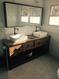 Made To Order Bathroom Cabinets Your Custom Rustic Barn Wood Double Vanity Or Cabinet With A