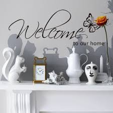 Wall Decor Stickers For Living Room English Welcome Home Butterfly Wall Stickers For Living Room