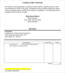 Uk Invoice Sample Invoice Format For Consultancy Designs Consultant Template
