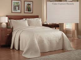 French Tile King Bedspread Ivory | King Size | Bedspreads | Pem ... & French Tile King Bedspread - Cream Adamdwight.com