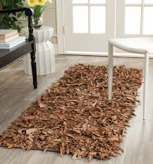 safavieh hand knotted brown leather area rug