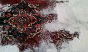 clean oriental rug at home