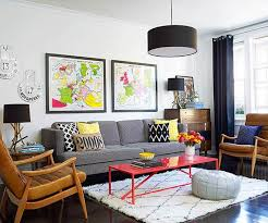 contemporary apartment furniture. Midcentury Modern Furniture And Layers Of Colorful Accessories Brought The  Living Room To Life! Contemporary Apartment