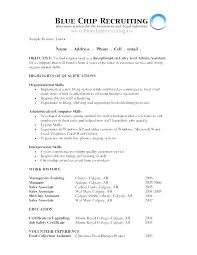 Sample Career Objective Resume Professional Objective In Resume