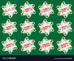 Set Of Christmas Sale Signs Royalty Free Vector Image