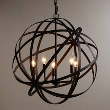 unique home decor cute sphere chandelier metal orb with