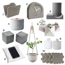 modern concrete accessories  design milk