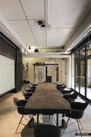 architecture simple office room. Meeting Room At The JWT Agency Office By Fearon Hay Architects Reclaimed Timber Dark Wood Table Exposed Services Architecture Simple