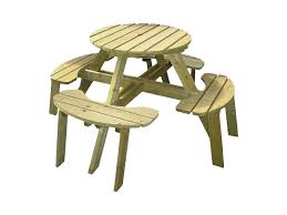 katie small round picnic table