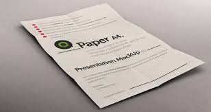 Psd A4 Paper Mock Up Presentation Psd Mock Up Templates Pixeden