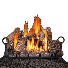 vented gas fireplace logs with remote control