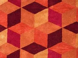 multi coloured 3d squares design funky bright modern thick soft with throughout red orange rug renovation