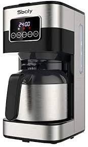 The carafe keeps your coffee at the perfect temperature using insulation instead of a heating element. Sboly Drip Coffee Maker Programmable Coffee Maker With Thermal Carafe 8 Cup Coffee Pot With Timer And Strength Drip Coffee Maker Thermal Coffee Maker Coffee