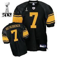 Yellow Steelers Cheapest 7 Ben Super Roethlisberger Free Shipping With Number Bowl Jersey Stitched Sale Black Xlv Nfl