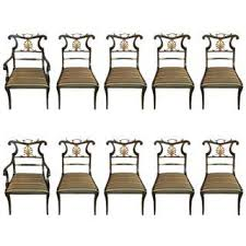 dining chair clipart. set of ten neoclassical style ebonized and brass mounted dining chairs jansen chair clipart l